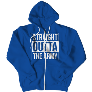 Straight Outta the Army Zipper Hoodie