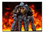 Firefighters - 1 Panel Canvas Art