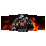 Firefighters - 5 Panel Canvas Art