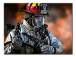 Firefighter Canvas Art