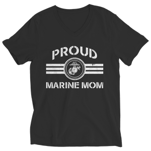 Proud Marine Mom (Black) Shirt/Tank/Hoodie