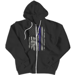 Serve Honor Protect Flag Zipper Hoodie
