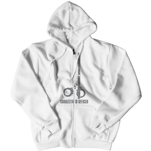 Correctional Officer Flag Zipper Hoodie