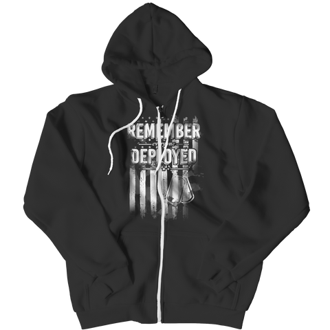 Remember Everyone Deployed Army Zipper Hoodie