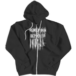 Remember Everyone Deployed Marines Zipper Hoodie