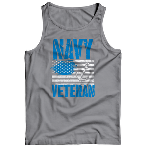 Navy Veteran - US Flag Tank Top