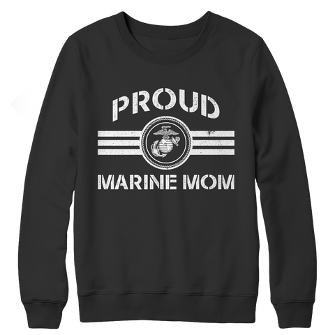 Limited Edition - Proud Marine Mom Crewneck Fleece