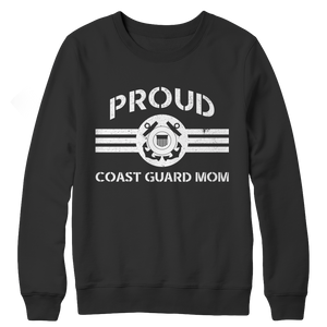 Limited Edition - Proud Coast Guard Mom Crewneck Fleece