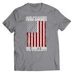 Limited Edition - You Will Never See Refugees From America We Don't Run. We Dust off our guns and Fix it! Shirt