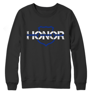 Honor-Thin Blue Line Tank Top Crewneck Fleece