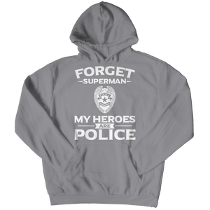 Limited Edition - Forget Superman My Heroes Are Police Youth Hoodie