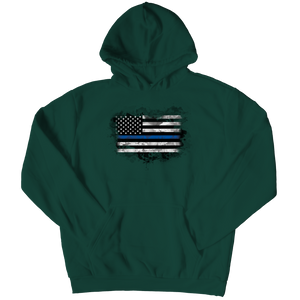 Limited Edition - Heart Blue Flag Hoodie