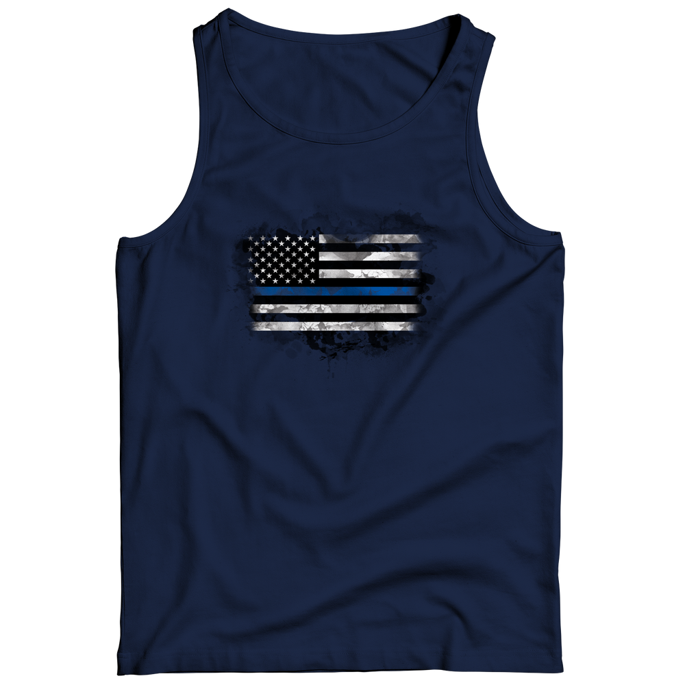 Limited Edition - Heart Blue Flag Tank Top