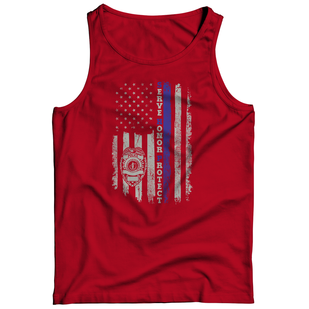 Limited Edition - Serve Honor Protect Flag Tank Top