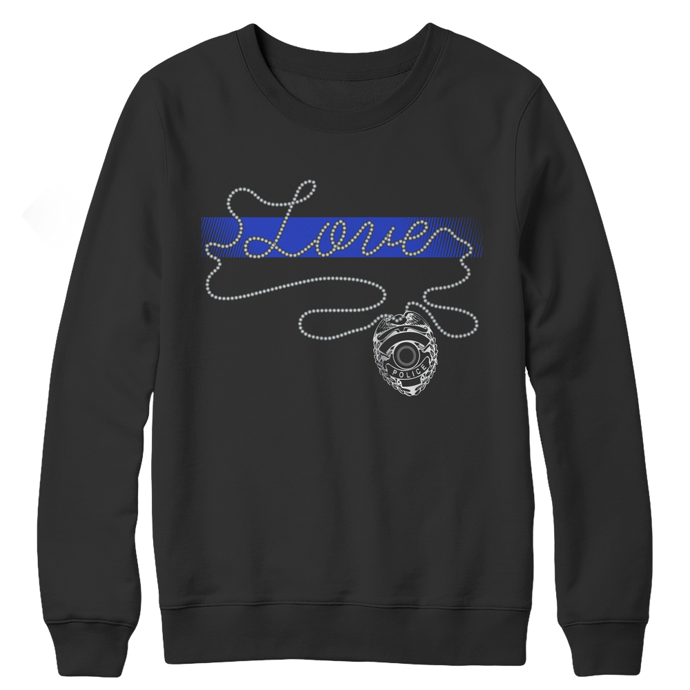 Limited Edition - Thin Blue Line Love Crewneck Fleece