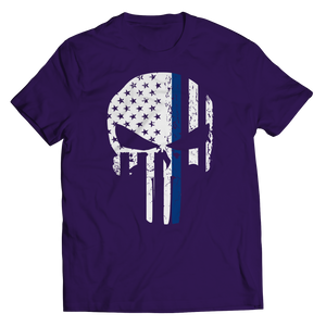 Thin Blue Line Punisher Shirt