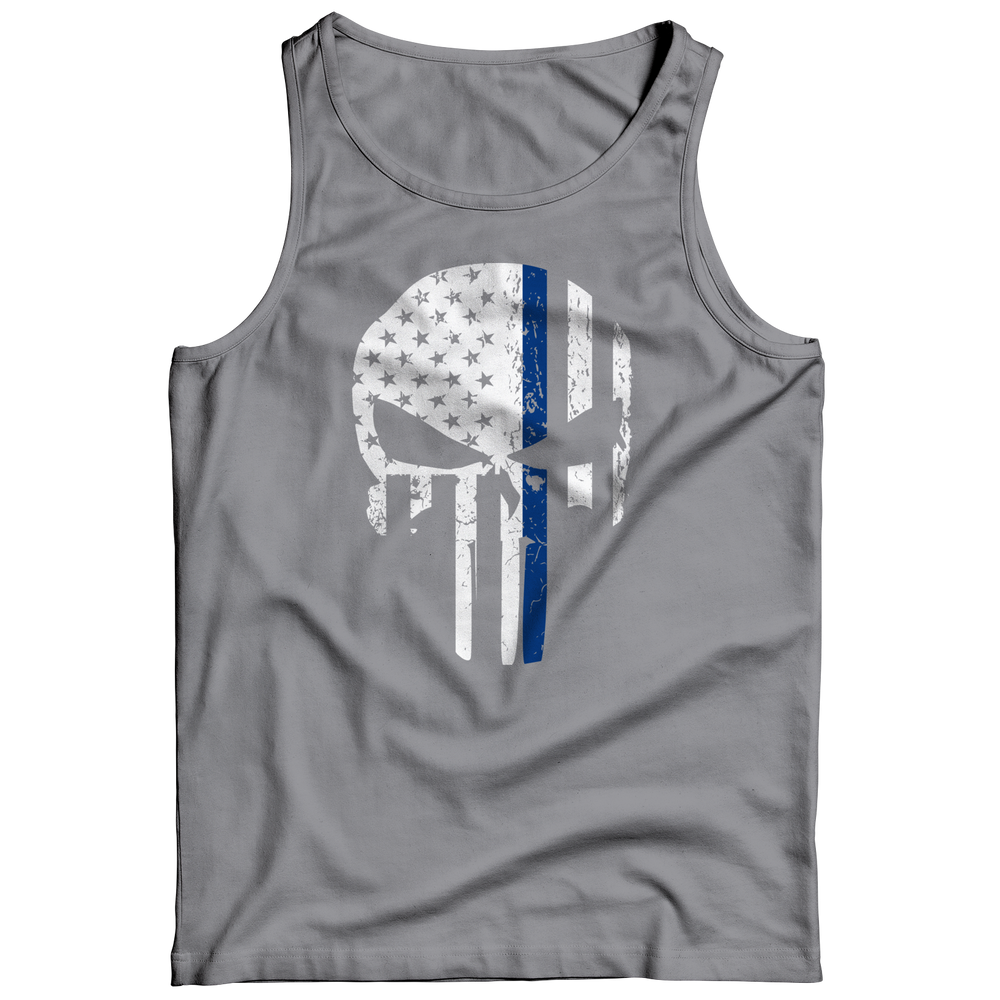 Thin Blue Line Punisher Tank Top