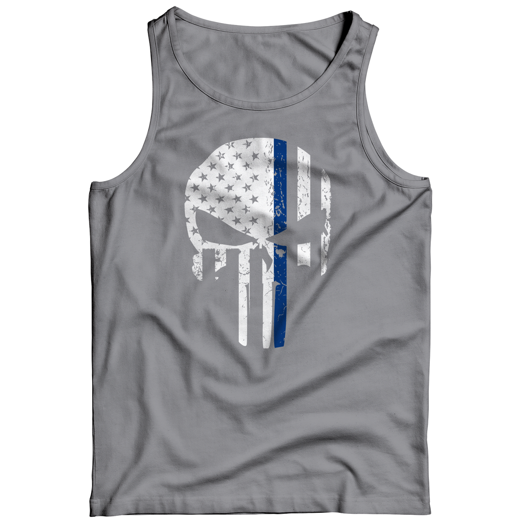 4e6f267388200 Thin Blue Line Punisher Tank Top – Aspire Gear