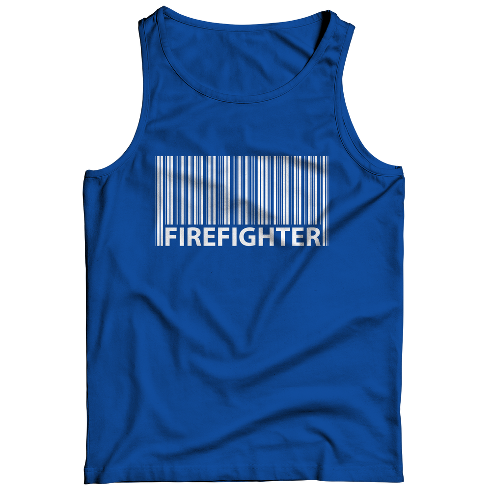 Firefighter Barcode Tank Top