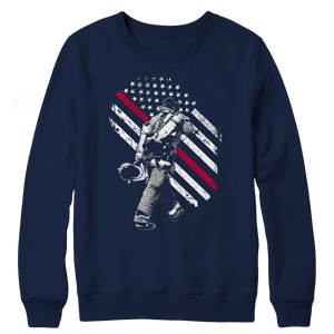 Firefighter Exclusive Thin Red Line Crewneck Fleece