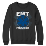 EMT Paramedic Distressed Crewneck Fleece