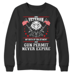 Limited Edition - I Am A Veteran Crewneck Fleece