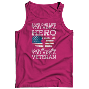 Save One Life You Are A Hero Tank Top