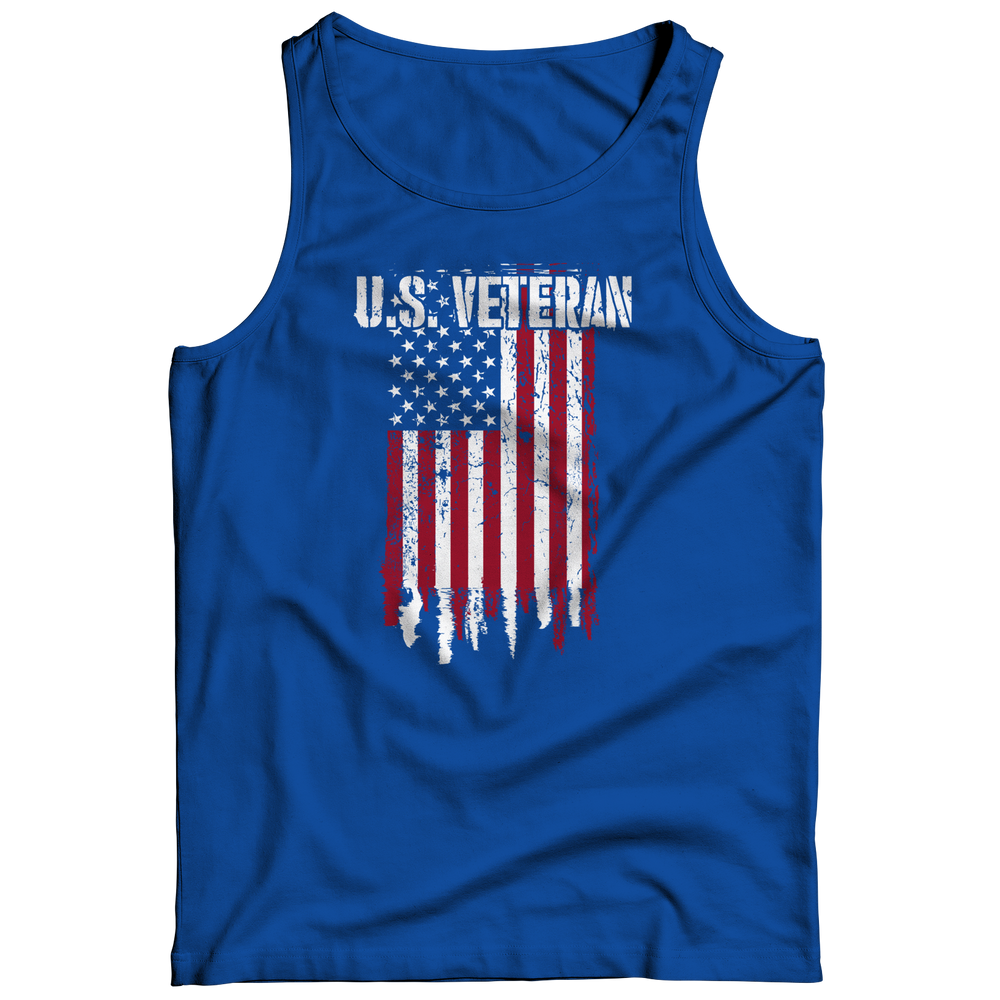 Us Veteran Flag Tank Top