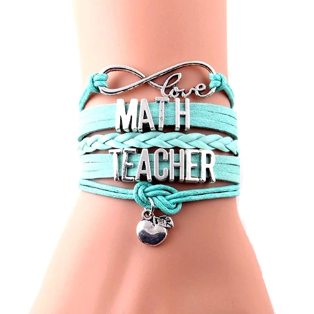 Math Teacher Support Infinity Bracelet