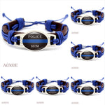 Police Support Bracelet- 19 Designs Available
