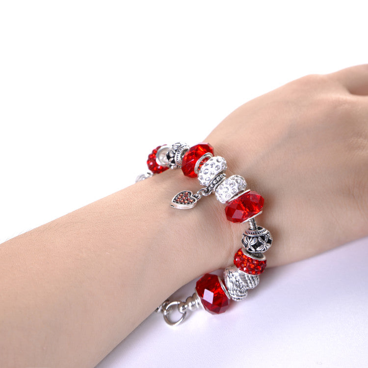 Red Firefighter Support Charm Bracelet