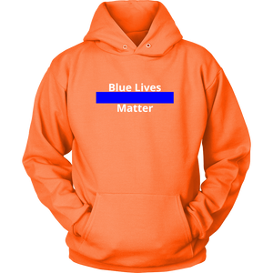 Blue Lives Matter Sweatshirt/Hoodie (White Text, Style 2)