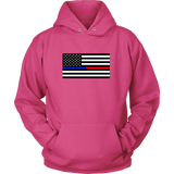 Blue Line Red Line Flag Sweatshirt/Hoodie