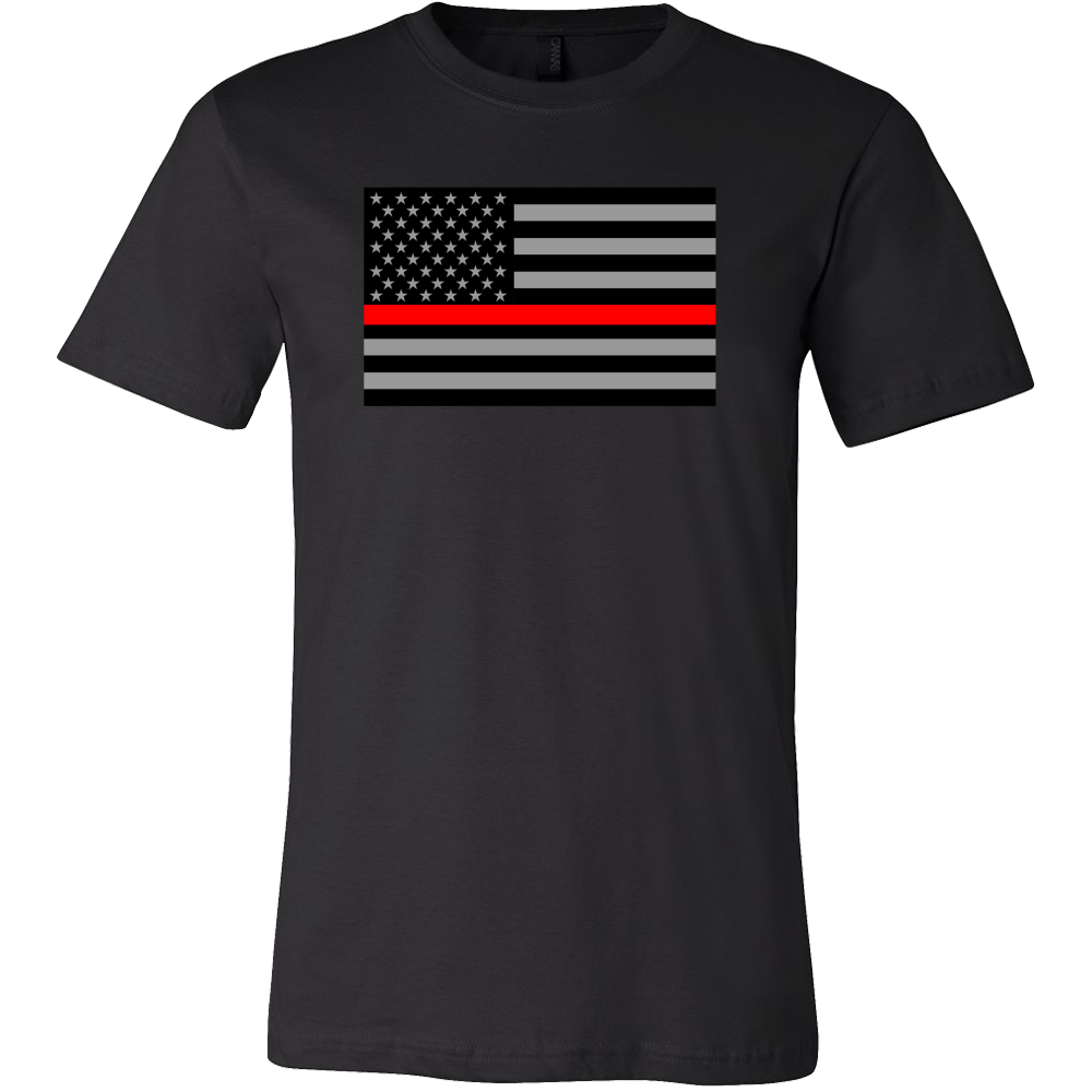 Red Line Flag Shirt (Men/Women, Style 1)