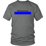 #bluelives Police Shirt Dark Text (Men/Women)