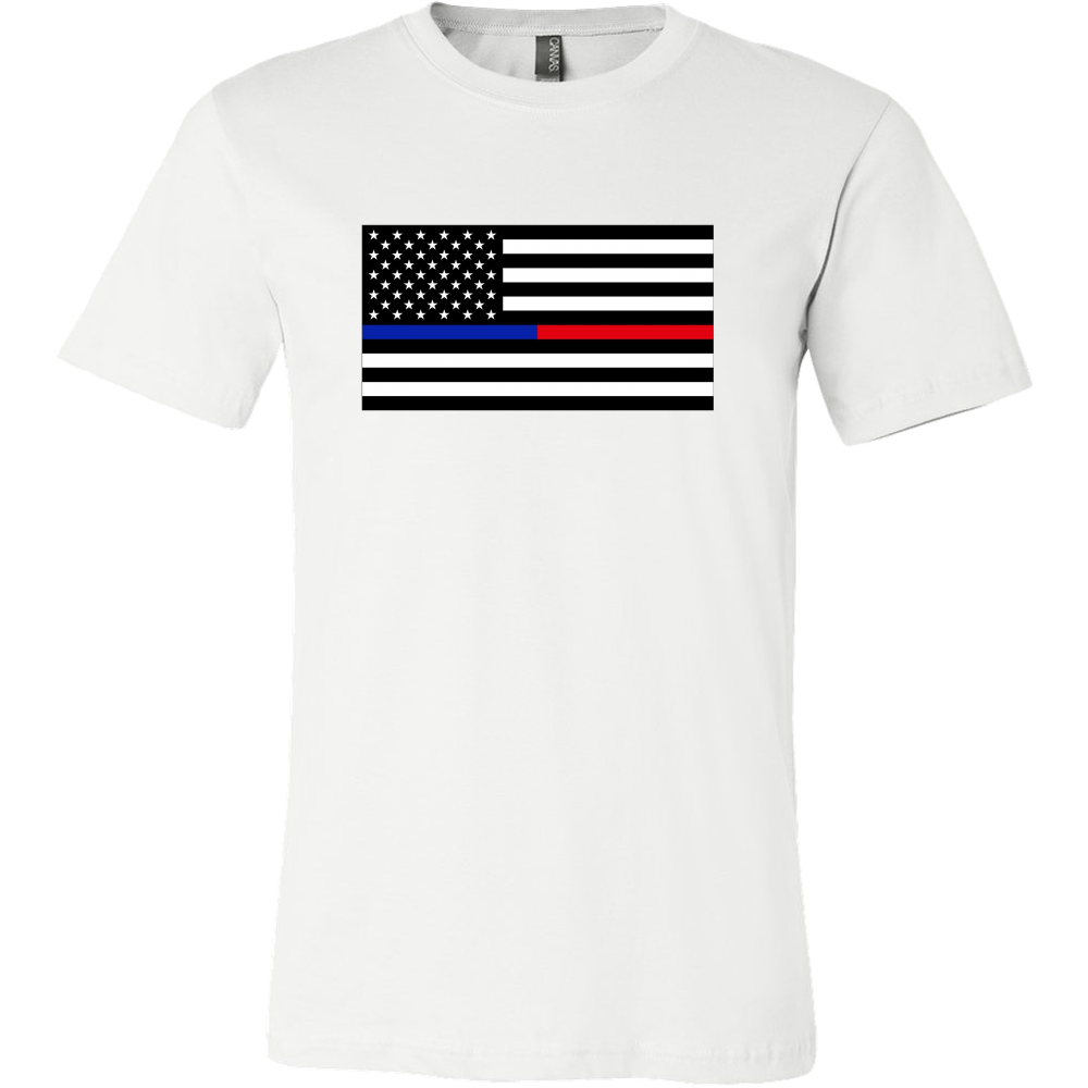 Blue Line Red Line Flag Shirt (Men/Women)