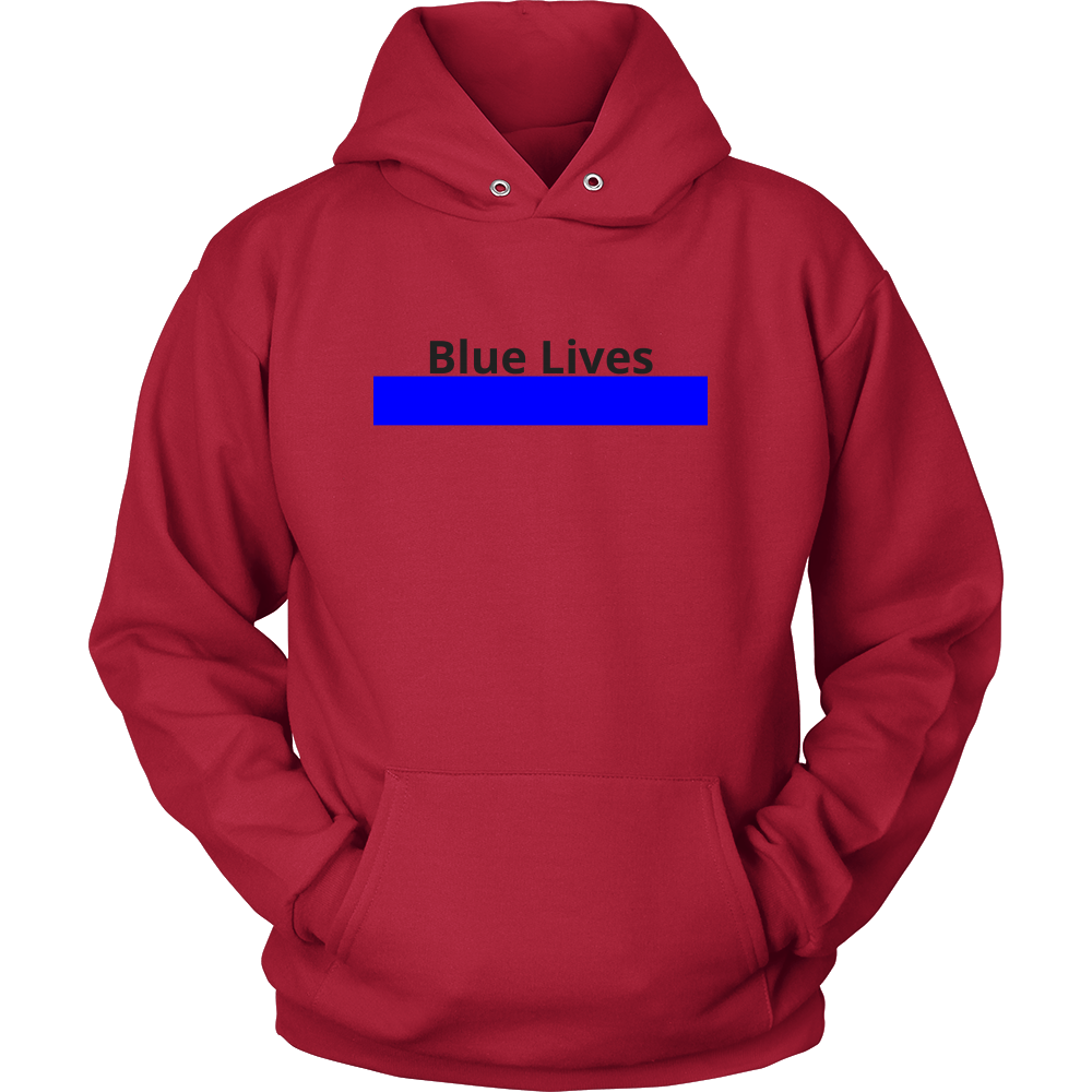 Blue Lives Sweatshirt/Hoodie (Black Text)