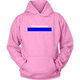 #bluelives Police Sweatshirt/Hoodie (White Text)