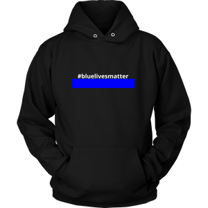 #bluelivesmatter Police Sweatshirt/Hoodie (White Text)