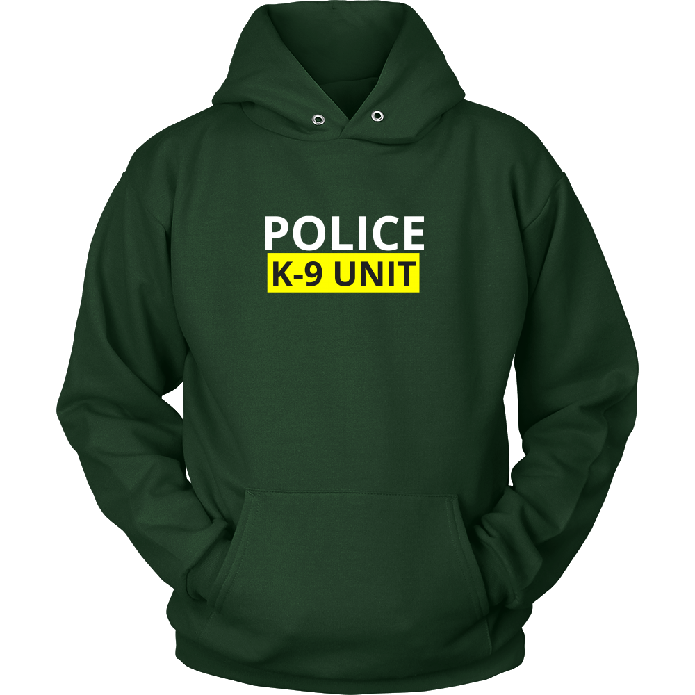 Police K-9 Unit Sweatshirt/Hoodie (White Text)