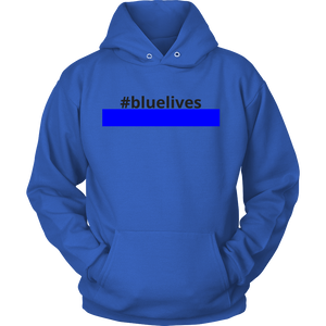 #bluelives Police Sweatshirt/Hoodie (Black Text)