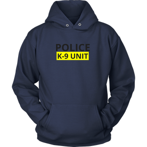 Police K-9 Unit Sweatshirt/Hoodie (Black Text)