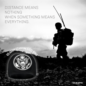 Black US Army Titainium Steel Ring