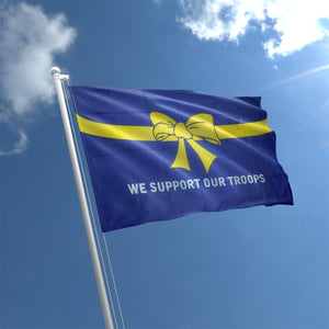 We Support Our Troops Yellow Ribbon Flag