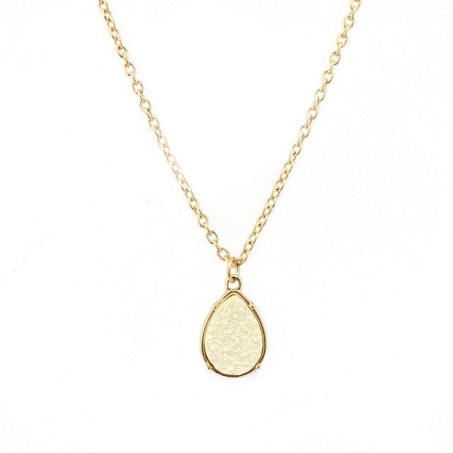 White Quartz Safe Motherhood Support Necklace