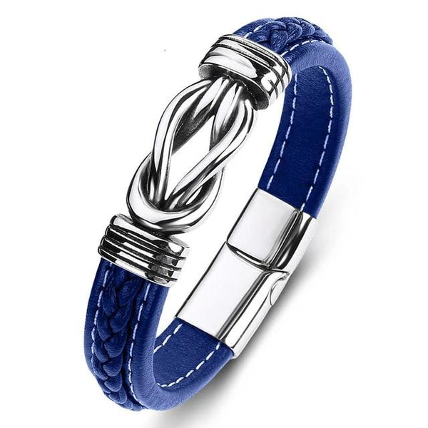 Police Support Infinity Bond Leather Bracelet