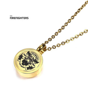 Firefighter Gold Memorial Necklace