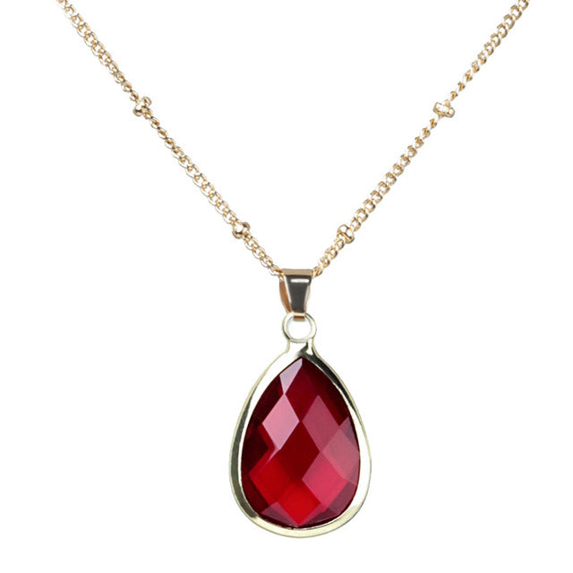 Burgundy Druzy Quartz Necklace
