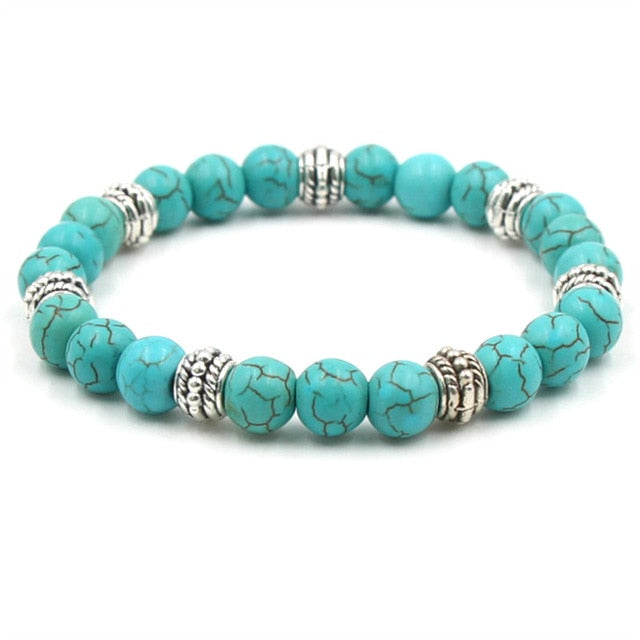 PTSD Awareness Stone Beads Bracelet