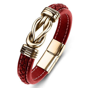 Firefighter Support Infinity Bond Leather Bracelet